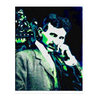 Nicola Tesla Vintage New Art Postcard