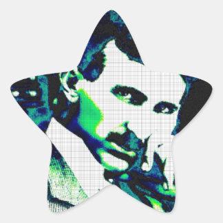 Nicola Tesla Vintage New Art Star Sticker