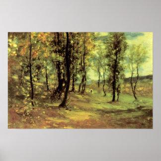 Nicolae Grigorescu - claro del bosque Póster
