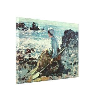 Nicolae Grigorescu - fisherwoman from Granville Canvas Print