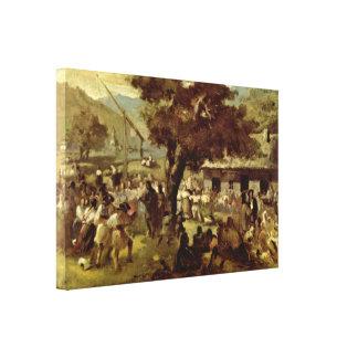 Nicolae Grigorescu - Hora Canvas Print