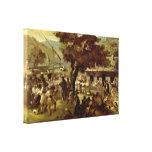 Nicolae Grigorescu - Hora Gallery Wrap Canvas
