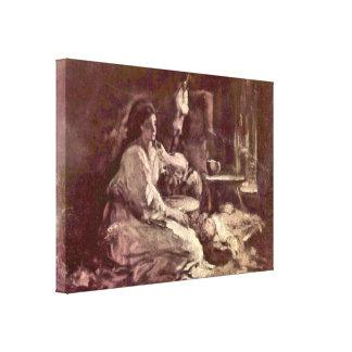 Nicolae Grigorescu - Maternity Canvas Print