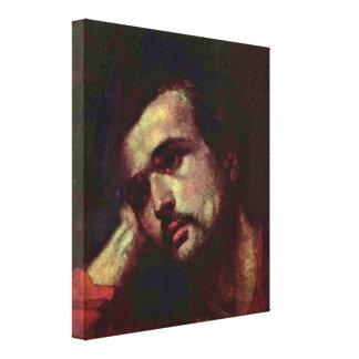Nicolae Grigorescu - Thoughtful Man Canvas Print