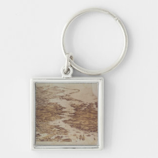 Nicolaieff and Kerson Bay, Odessa & Perekop Silver-Colored Square Keychain