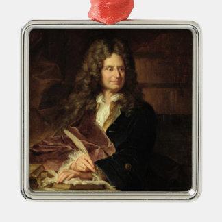 Nicolás Boileau después de 1704 Adorno Navideño Cuadrado De Metal