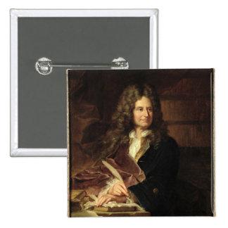 Nicolás Boileau después de 1704 Pin Cuadrada 5 Cm