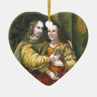 Nicolas Cage, pintura de Rembrandt, cinta de la Adorno De Cerámica En Forma De Corazón