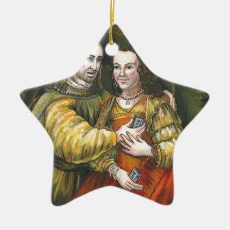 Nicolas Cage, pintura de Rembrandt, cinta de la Adorno De Cerámica En Forma De Estrella