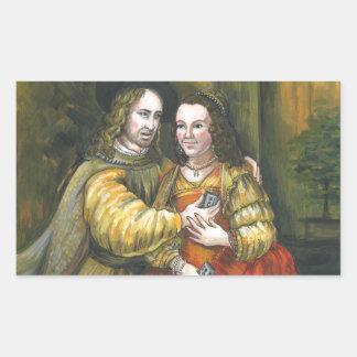 Nicolas Cage, pintura de Rembrandt, cinta de la Pegatina Rectangular