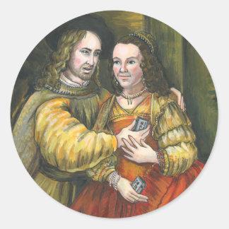 Nicolas Cage, pintura de Rembrandt, cinta de la Pegatina Redonda