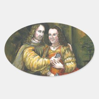 Nicolas Cage, pintura de Rembrandt, cinta de la Pegatina Ovalada
