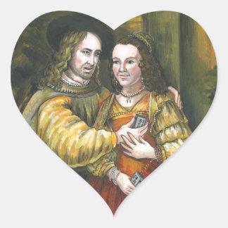 Nicolas Cage, pintura de Rembrandt, cinta de la Pegatina En Forma De Corazón