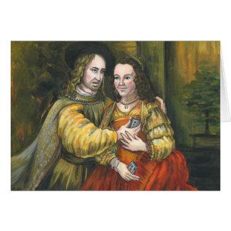 Nicolas Cage, pintura de Rembrandt, cinta de la Tarjeta De Felicitación