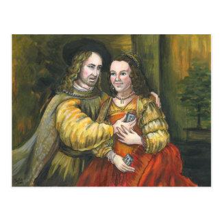 Nicolas Cage, pintura de Rembrandt, cinta de la Tarjetas Postales