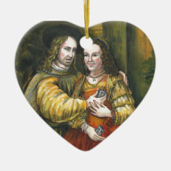 Nicolas Cage, Rembrandt Painting, Mix Tape Ceramic Ornament
