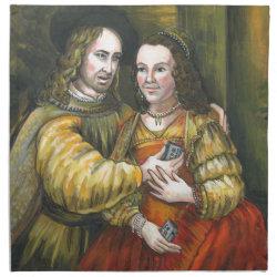 Nicolas Cage, Rembrandt Painting, Mix Tape Cloth Napkin
