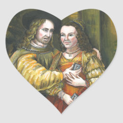 Nicolas Cage, Rembrandt Painting, Mix Tape Heart Sticker