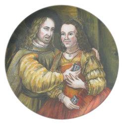 Nicolas Cage, Rembrandt Painting, Mix Tape Melamine Plate