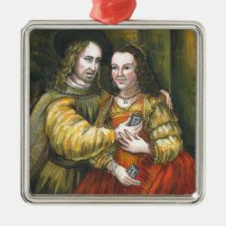 Nicolas Cage, Rembrandt Painting, Mix Tape Metal Ornament