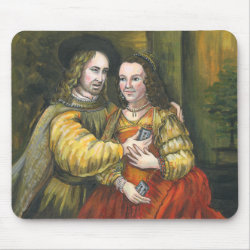 Nicolas Cage, Rembrandt Painting, Mix Tape Mouse Pad