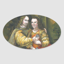 Nicolas Cage, Rembrandt Painting, Mix Tape Oval Sticker