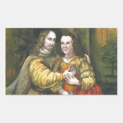 Nicolas Cage, Rembrandt Painting, Mix Tape Rectangular Sticker