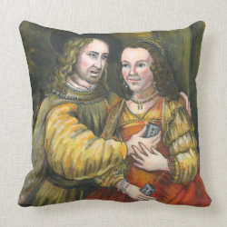 Nicolas Cage, Rembrandt Painting, Mix Tape Throw Pillow