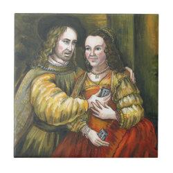 Nicolas Cage, Rembrandt Painting, Mix Tape Tile