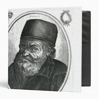 Nicolas Flamel engraved by Balthazar Moncornet 3 Ring Binder