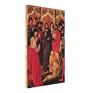 Nicolas Froment - The Raising of Lazarus altar Canvas Prints