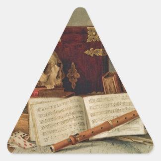 Nicolas Henri Jeaurat de Bertry Vanitas Triangle Sticker