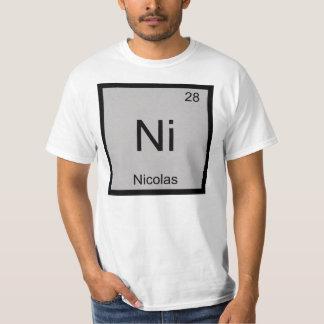 Nicolas Name Chemistry Element Periodic Table Shirt