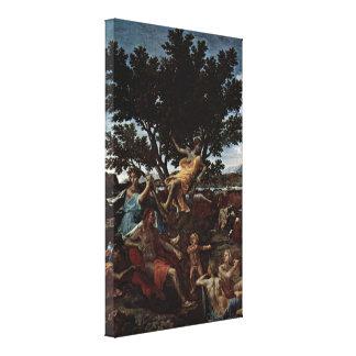 Nicolas Poussin - Apollo and Daphne (detail) Gallery Wrap Canvas