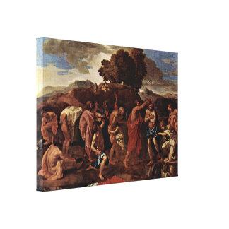 Nicolas Poussin - Baptism Canvas Print