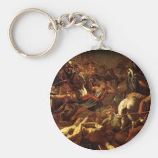 Nicolas Poussin-Battle of Gideon with Midianites Key Chain