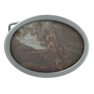 Nicolas Poussin: Blind Orion Searching for the Sun Oval Belt Buckles