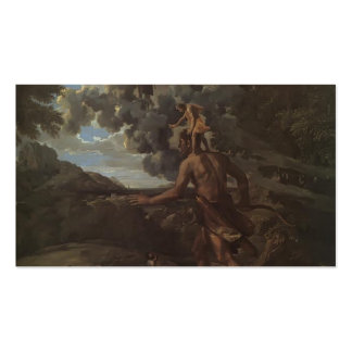Nicolas Poussin: Blind Orion Searching for the Sun Business Card Template