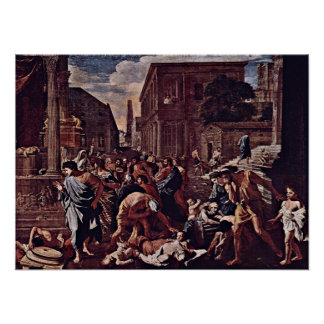 Nicolas Poussin - Die Pest of Azoth Poster
