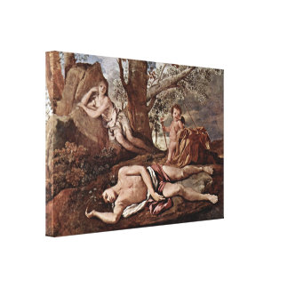Nicolas Poussin - Echo and Narcissus Canvas Print