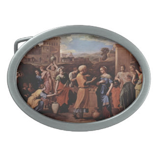 Nicolas Poussin- Eliezer and Rebecca at the Well Belt Buckle