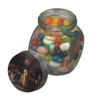 Nicolas Poussin- Extreme Unction Glass Candy Jars