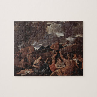 Nicolas Poussin-Great Bacchanal,Woman Playing Lute Jigsaw Puzzle