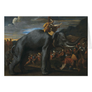 Nicolas Poussin - Hannibal crossing the Alps Card
