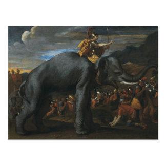 Nicolas Poussin - Hannibal crossing the Alps Postcard