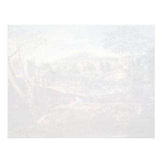 Nicolas Poussin- Ideal Landscape Letterhead Template