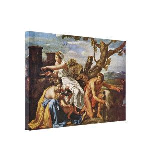 Nicolas Poussin - Jupiter nurtured by the goat Canvas Print