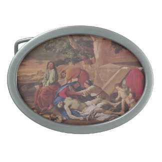 Nicolas Poussin- Lamentation over Body of Christ Oval Belt Buckles
