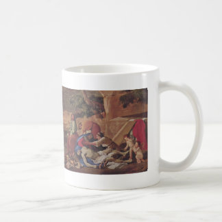 Nicolas Poussin- Lamentation over Body of Christ Classic White Coffee Mug