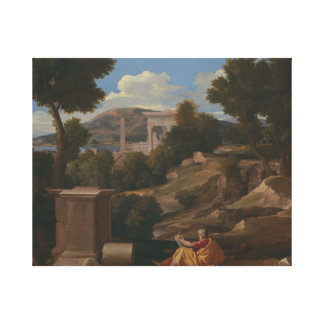 Nicolas Poussin - Landscape with Saint John Canvas Print